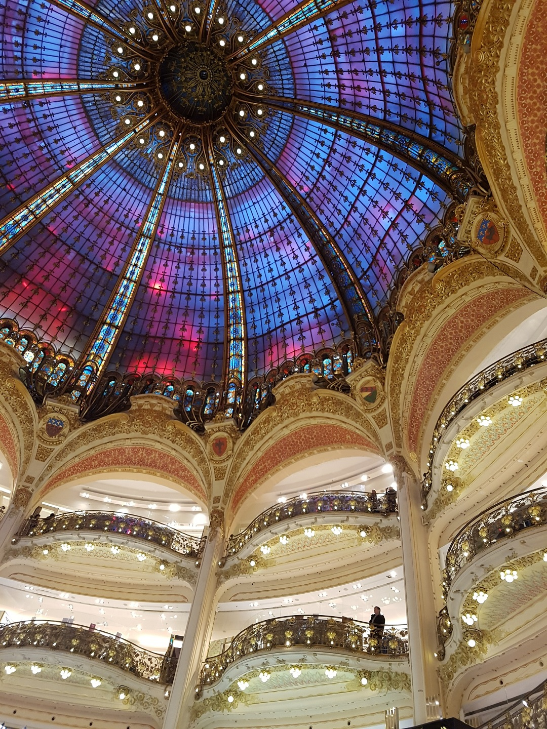 Galleries Lafayette coloured glass roof