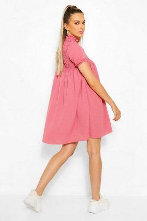 Boo Hoo – Pink Smock Dress