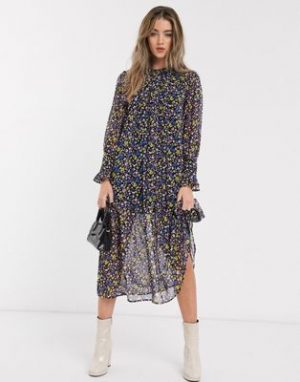 Top Shop Tiered Smock Dress
