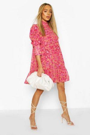 Boohoo Ruffle Dress