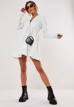 Missguided – White Smock Dress