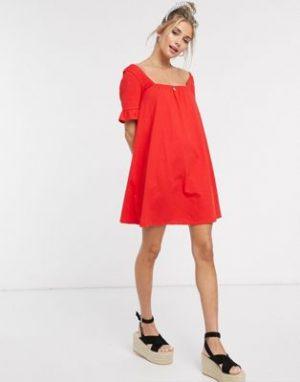 ASOS Red Smock Dress